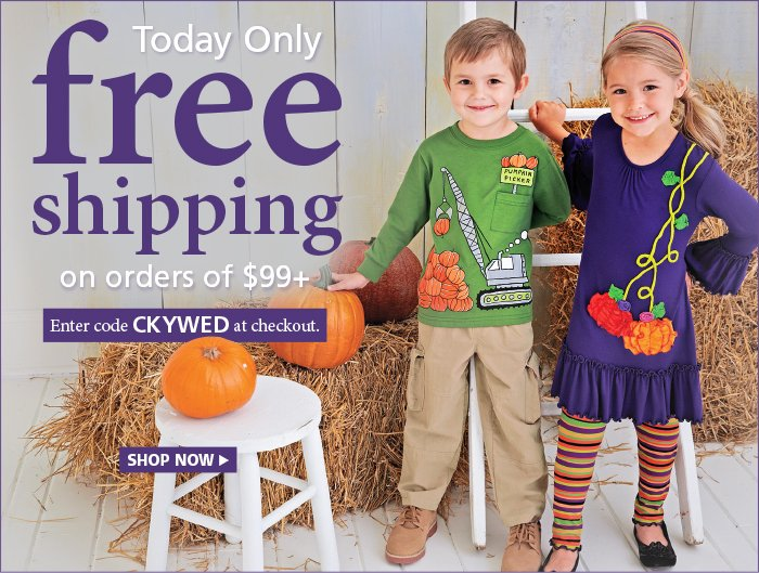 Free Shipping on orders $99+ All Day Long with code CKYWED at checkout