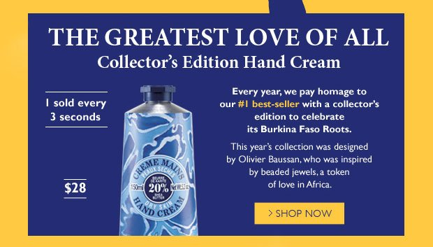 The Greatest Love of all. Collector's Edition Hand Cream