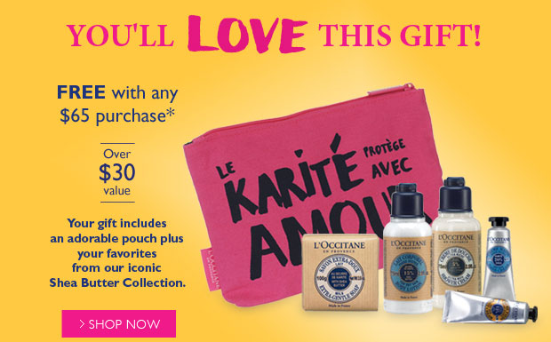 You'll Love This Gift! Free with any $65 purchase