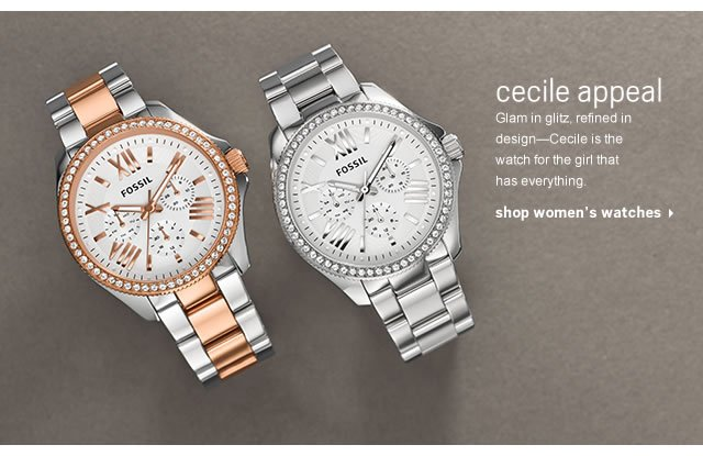 Cecile Appeal- Glam in glitz, refined in design- Cecile is the watch for the girl that has everything. Shop women's watches.