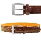 Men's Cognac Brown Leather Casual Belt