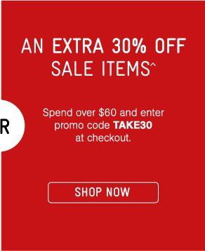 An Extra 30% Sale Items