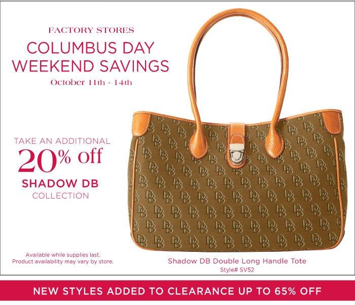 Factory Stores Columbus Day Weekend Savings
