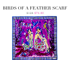 BIRDS OF A FEATHER SCARF