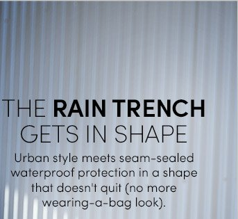 THE RAIN TRENCH GETS IN SHAPE