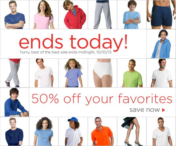 Best of the Best Sale: 50% off ends today!