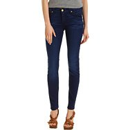 7 For All Mankind Mid-Rise Skinny in Deep Blue Stretch