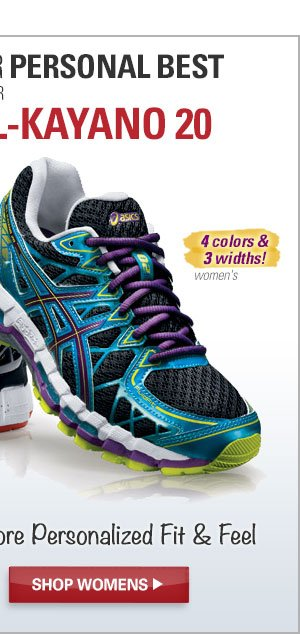 Bust Right Past Your Personal Best in Your New ASICS GEL-Kayano 20. Shop Women's