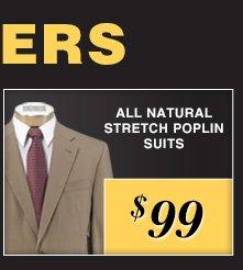 $99 USD - Natural Stretch Poplin Suits