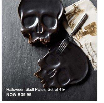 Halloween Skull Plates, Set of 4 - NOW $39.99