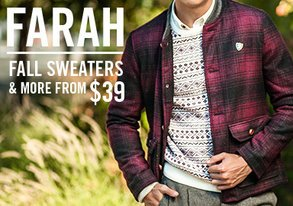 Shop Farah: Fall Sweaters & More from $39