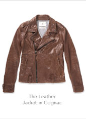 The Leather Jacket in Cognac