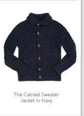 The Cabeled Sweater Jacket