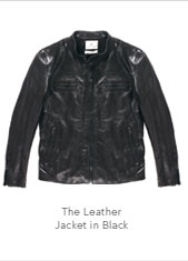 The Leather Jacket in Black