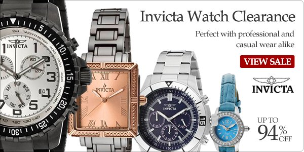 Invicta Watch Clearance