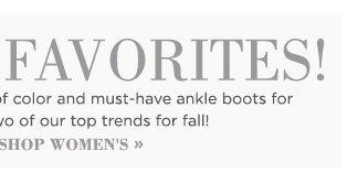 Shop Women's Footwear Favorites