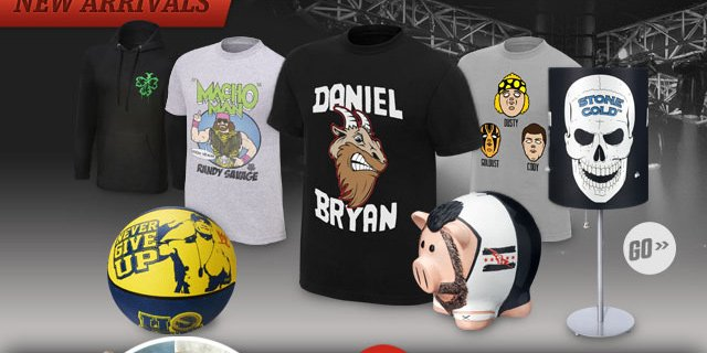 New Items at WWE Shop!