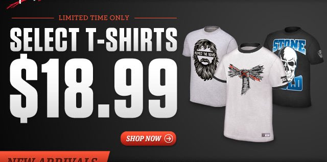 T-shirts $18.99 for a limited time only!