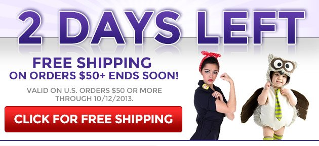 2 Days Left: Free Shipping On Orders $50+ Ends Soon