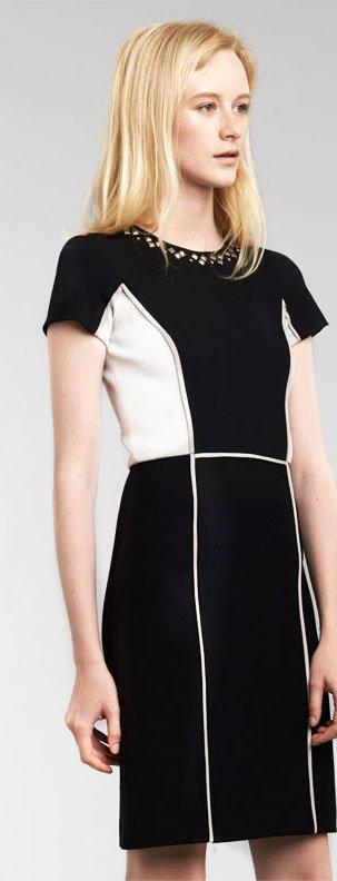 Short Sleeve Blocked Dress