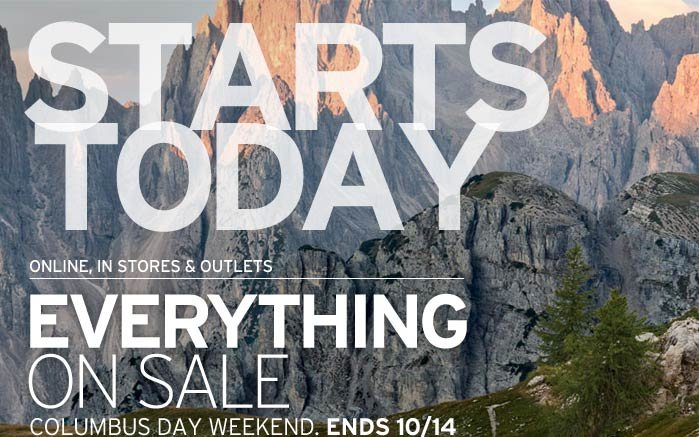 Starts Today! Everything On Sale