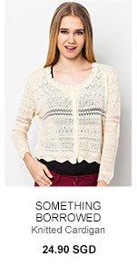 SOMETHING BORROWED Knitted Cardigan