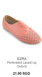 EZRA Perforated Laced Up Oxford