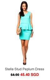 ONLY Stella Stud Peplum ShortSleeve Dress