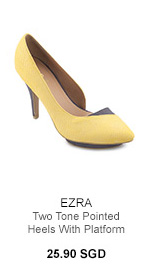 EZRA Two Tone Pointed Heels With Platform