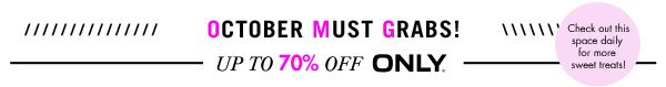 Up to 70% off Only