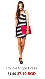 ONLY Trouble Stripe Dress