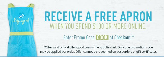 Spend $100 and Get A Free Apron