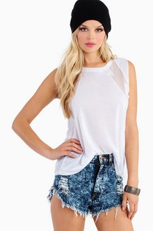 DOUBLE ELECTRIC MESH TANK TOP 25
