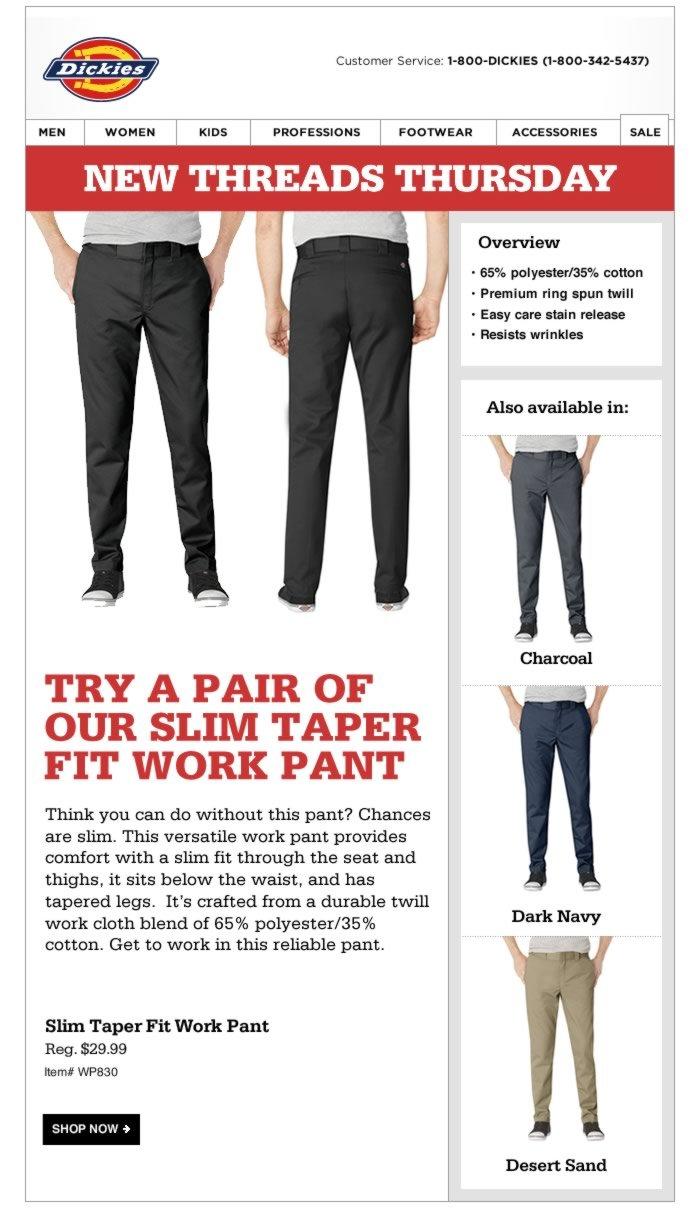 New Threads Thursday: Slim Taper Fit Work Pant