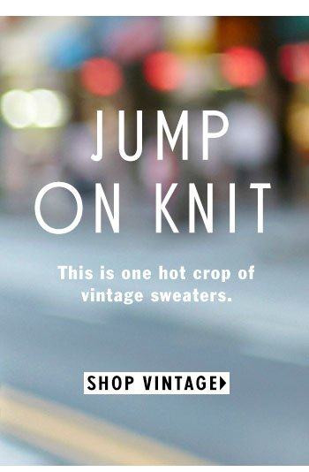 Jump On Knit - One Hot Crop of Vintage Sweaters