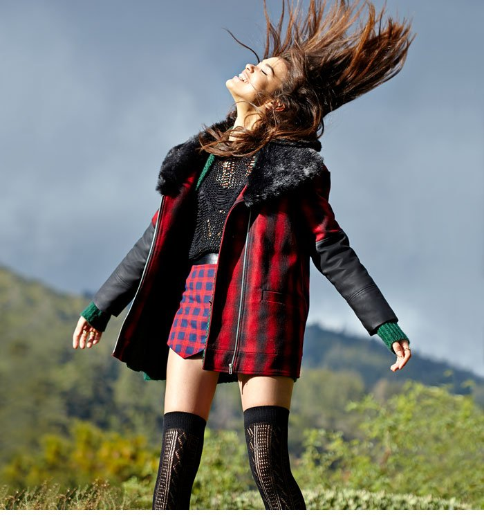 Layer up in the coats and jackets you need right now: anoraks, oversized, plaid and faux fur.