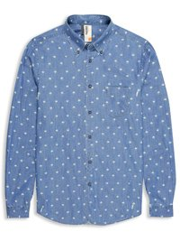 Plectrum Umbrella Print Twill Shirt