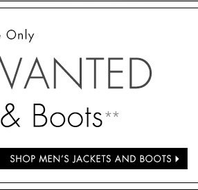 Shop Men's Jackets and Boots
