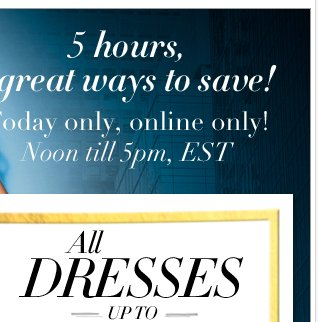 Up to 50% off all dresses + FREE SHIPPING on any purchase of $50 or more! Shop NOW!