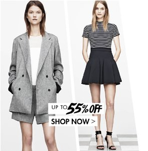 T BY ALEXANDER WANG UP TO 55% OFF
