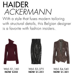 HAIDER ACKERMANN UP TO 60% OFF