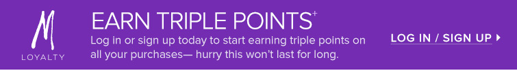 Earn triple Points