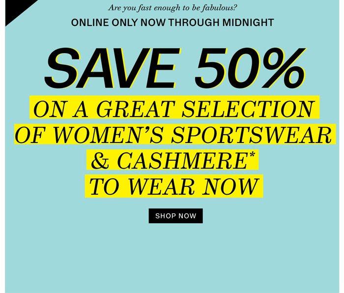 Save 50%. Shop now