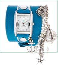 Grecian Blue Silver Portofino Charm Wrap