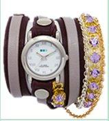 Lavender St. Tropez Crystal Chain Wrap