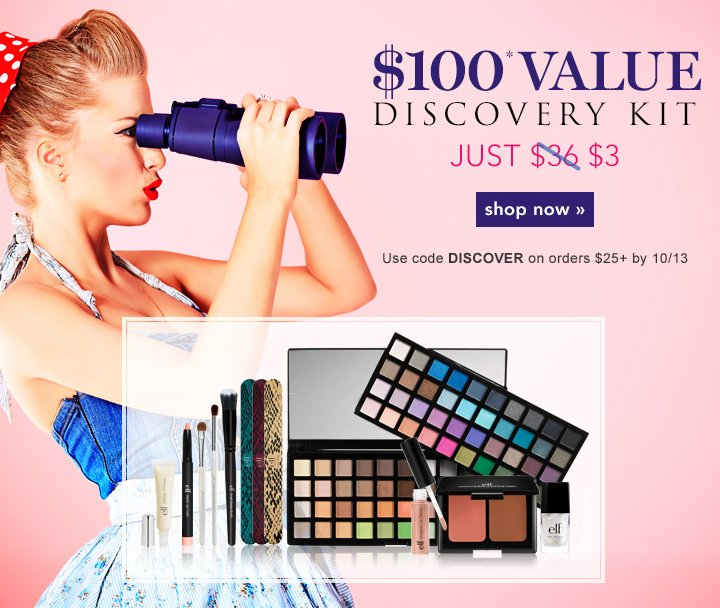 $36 in products for $3 when you spend $25 and use code DISCOVER