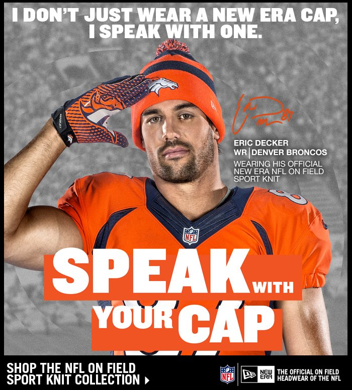 Featuring Eric Decker Wearing His Official On Field Sport Knit.