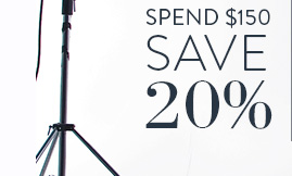 Spend $150 Save 20%