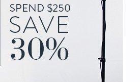 Spend $250 Save 30%