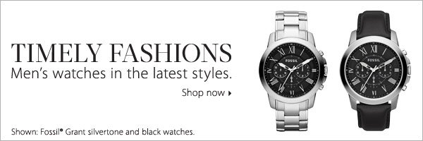 TIMELY FASHIONS. Men's watches in the latest styles. Shop now.